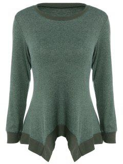 Asymmetric Knitwear - Blackish Green S