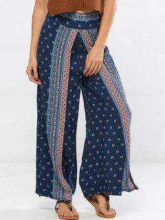Pantalon Large Leg Palazzo - Bleu Violet S