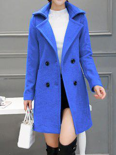 Wool Blend Peacoat Walker - Bleu S