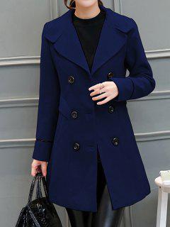 Laine Blend Retour Slit Walker Peacoat - Bleu Violet S