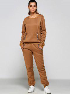 Kette Verschönert Sweatshirt + Hose - Khaki L