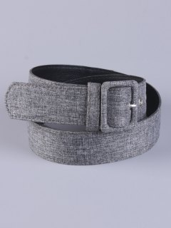PU Leather Pin Buckle Belt - Gray