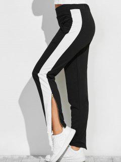 Pantalons Color Block Zipper Furcal Piste - Noir L