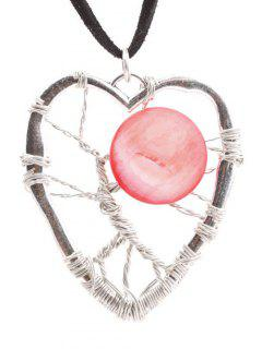 Handmade Heart Necklace - Red