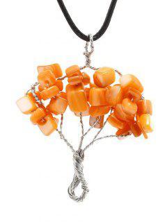 Collar Del árbol Con Cuentas - Naranja Dulce