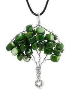 Collar Del árbol Con Cuentas - Verde
