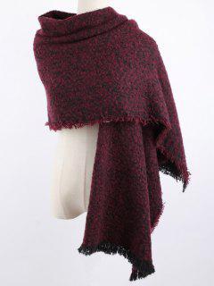 Winter Shawl Scarf - Dark Red