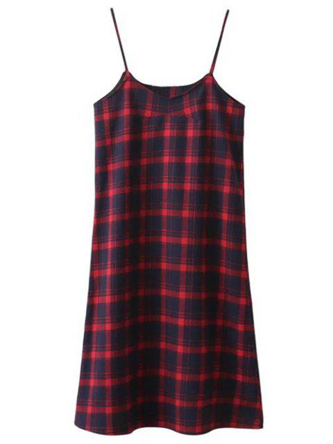 Tartán Midi Slip vestido - Cuadro L Mobile