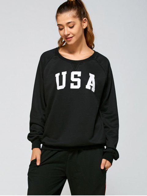 Sweat-shirt sportif avec dessins imprimés - Noir M Mobile