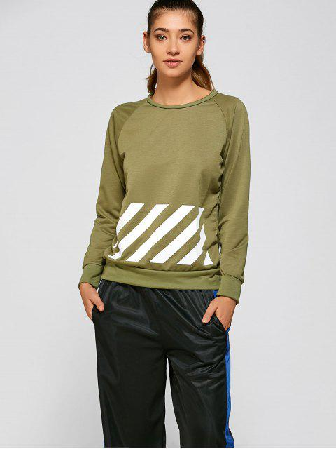 BF Style Printed Sports Sweatshirt - GREEN S Mobile