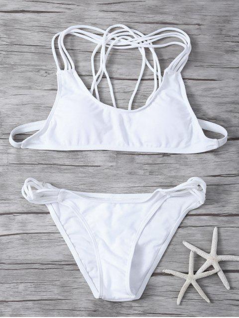 unique Padded Strappy Bikini - WHITE S Mobile