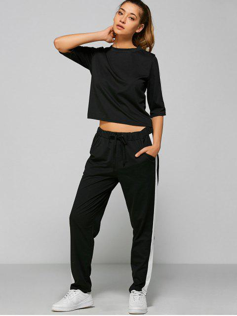best Drawstring Pants with Color Block Top -   Mobile