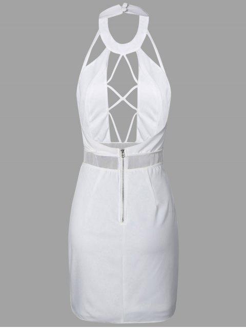 chic Backless Cut Out Bodycon Dress - WHITE 2XL Mobile