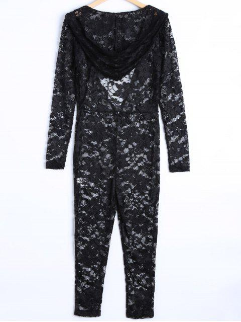 new See-Through Jumpsuit - BLACK M Mobile