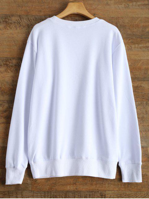 affordable Alien Letter Sweatshirt - WHITE S Mobile