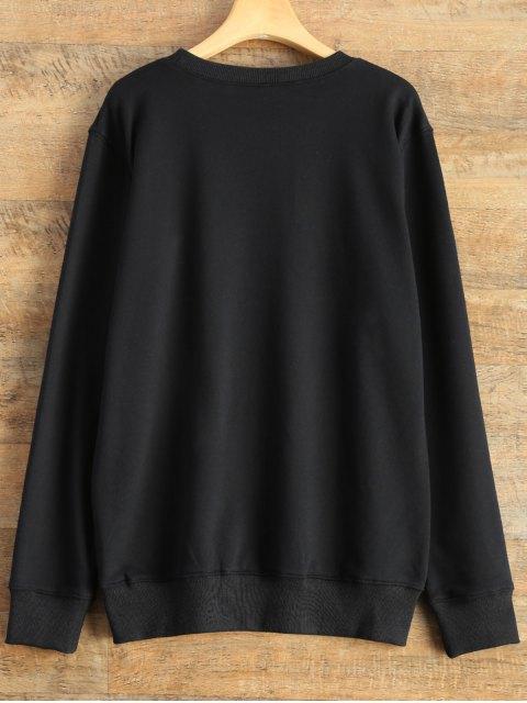 ladies Alien Letter Sweatshirt - BLACK S Mobile