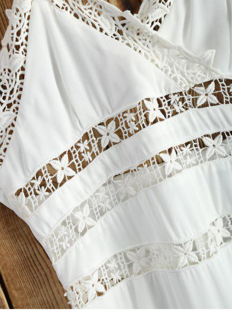 Crochet Insérer Halter Dress - Blanc 2XL Mobile