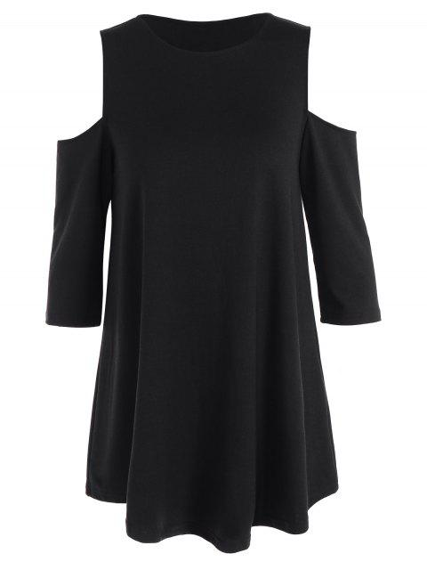 T-shirt épaules dénudées - Noir S Mobile
