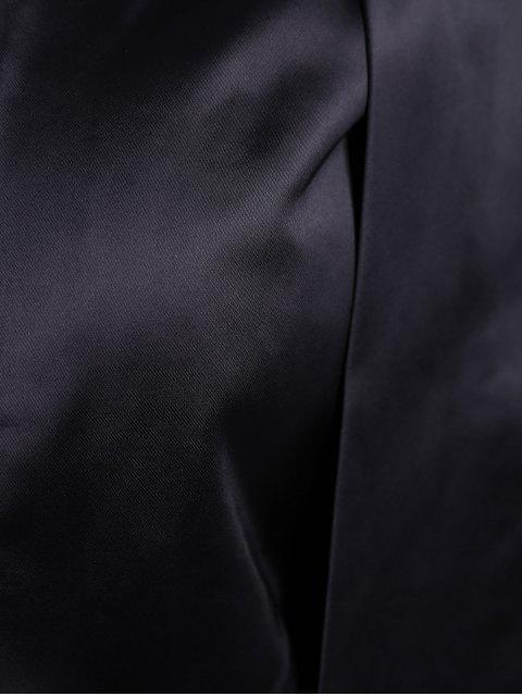 best Collarless Work Cape Blazer - BLACK L Mobile