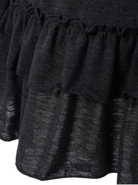 shops Ruffles Long Sleeve Tee - DEEP GRAY M Mobile