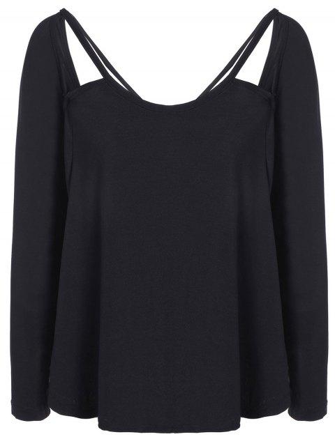 Casual fotografica Camiseta - Negro S Mobile