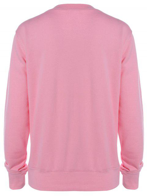 outfit Graphic Letter Funny Sweatshirt - PINK M Mobile