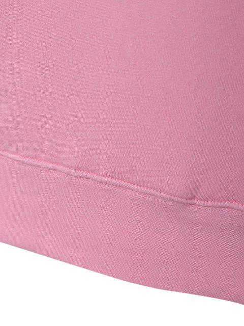 chic Loose Leisure Letter Sweatshirt - PINK S Mobile