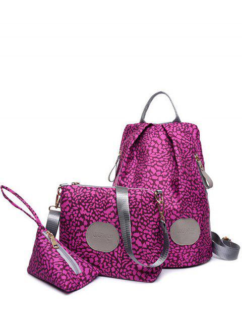 Cremalleras imprimir en color empalmado Mochila - Rosa Violeta  Mobile