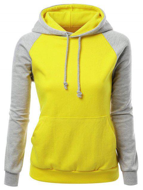 fashion Casual Raglan Sleeve Hoodie - GRAY L Mobile