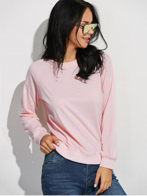 Raglan manches Sweat de base - ROSE PÂLE L Mobile
