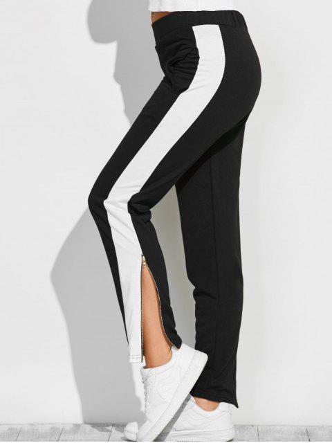 Pantalons Color Block Zipper Furcal piste - Noir L Mobile