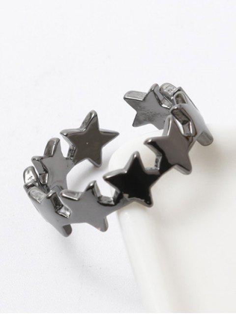 Anneau de doigt poli en forme d'étoiles - Métal Pistolet  Mobile
