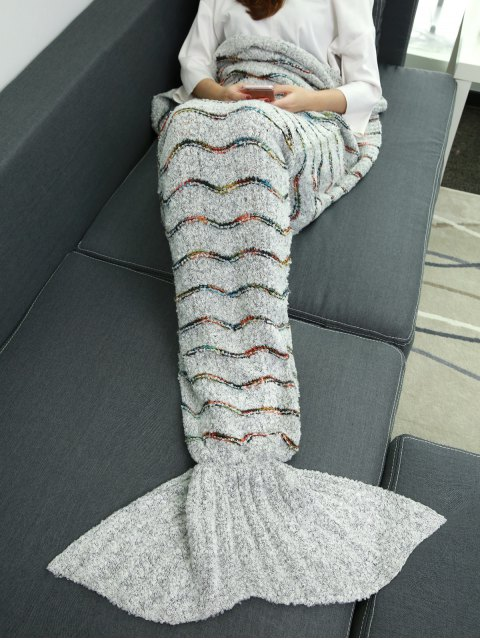 chic Striped Wrap Mermaid Tail Blanket -   Mobile