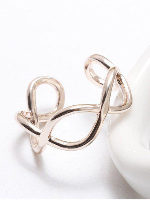 fashion Filigree Infinity Cuff Ring -   Mobile
