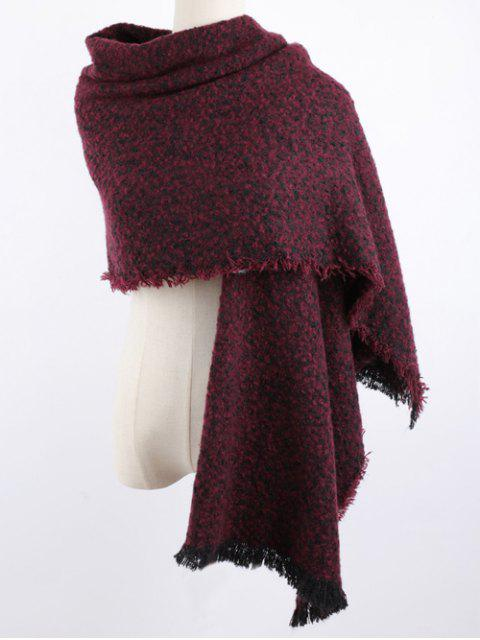 affordable Winter Shawl Scarf - DARK RED  Mobile