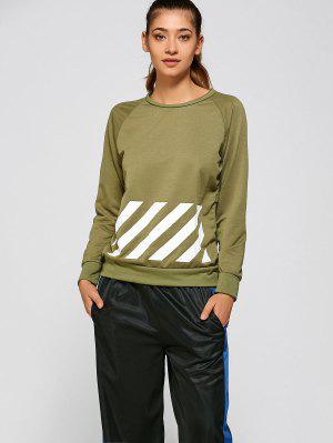 BF Style Printed Sports Sweatshirt - Verde Xl