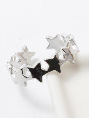Anneau de doigt poli en forme d'étoiles