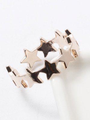 Polished Star Cuff Ring