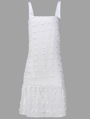 Stereo Flower Midi Bretelles Robe - Blanc L