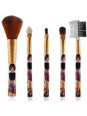 5 piezas de nylon pinceles de maquillaje Set