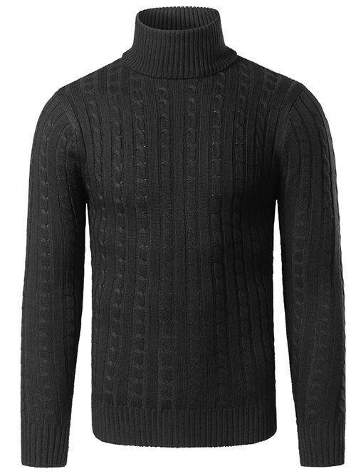 Rib Hem Turtleneck Twist Striped Sweater 199345012