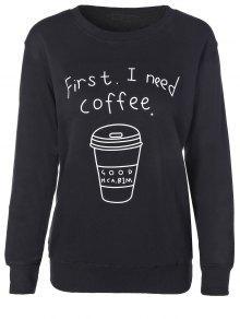 Taza De Café De La Camiseta De La Letra - Negro S