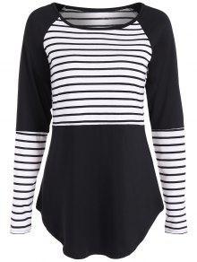 T-shirt Rayé Fitting - Noir L