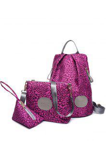 Imprimer Zippers Couleur Spliced Backpack - Violet Rose