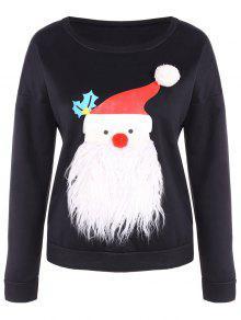 Fleece Christmas Sweatshirt - Black Xl
