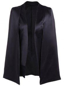 Collarless Work Cape Blazer - Black S