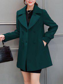 طية صدر السترة طوق سوينغ بيكوات - مسود الخضراء S