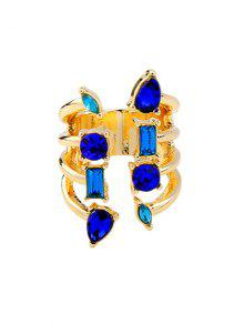Buy Alloy Faux Sapphire Ring - GOLDEN ONE-SIZE