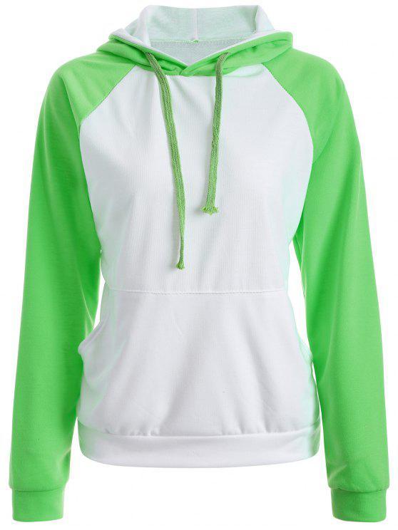 Casual Sweatshirt à capuche Raglan - Vert M