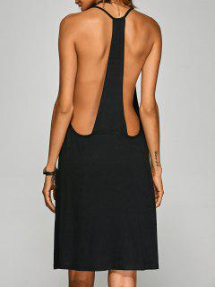 Racerback Knee Length Club Cami Dress - Black Xl